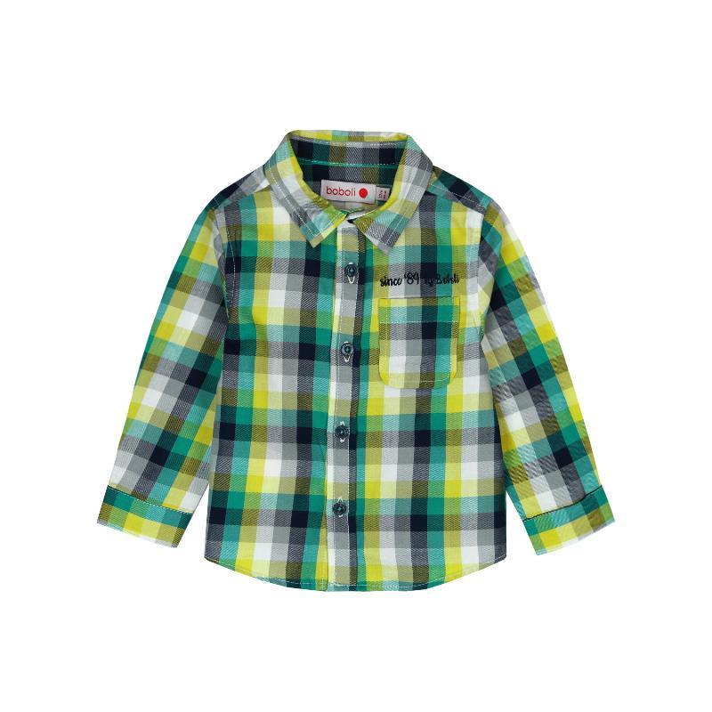 Памучна риза с дълъг ръкав и бродерия за бебе  351
