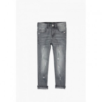 Панталон от сив деним с еластан за момиче Boboli 35193