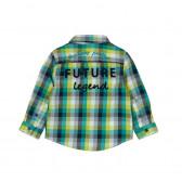 Памучна риза с дълъг ръкав за бебе момче Boboli 352 2