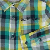 Памучна риза с дълъг ръкав за бебе момче Boboli 354 4