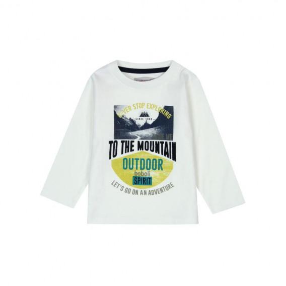 Памучна блуза с дълъг ръкав за бебе момче Boboli 355