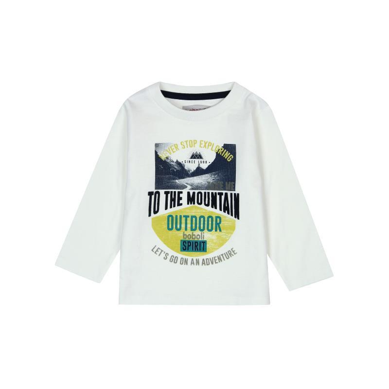Памучна блуза с дълъг ръкав за бебе момче  355