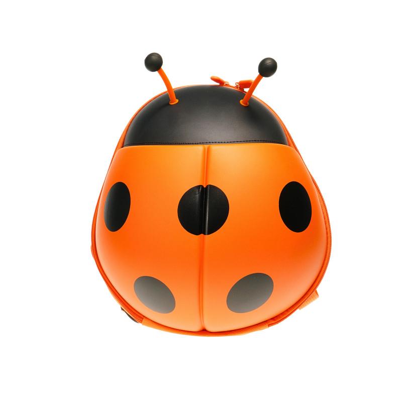 Детска раница с формата на калинка, оранжева  35581
