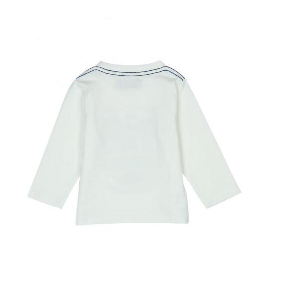 Памучна блуза с дълъг ръкав за бебе момче Boboli 356 2