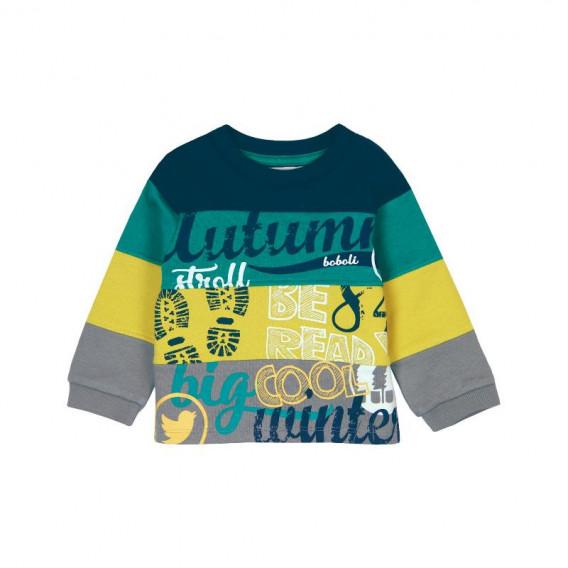 Памучна блуза с дълъг ръкав за бебе момче Boboli 359
