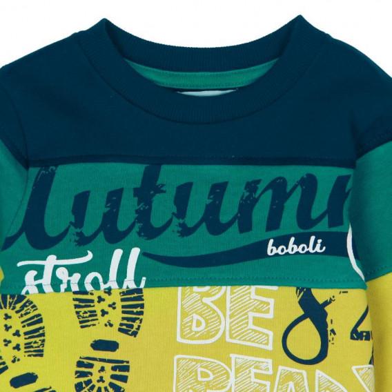 Памучна блуза с дълъг ръкав за бебе момче Boboli 361 3