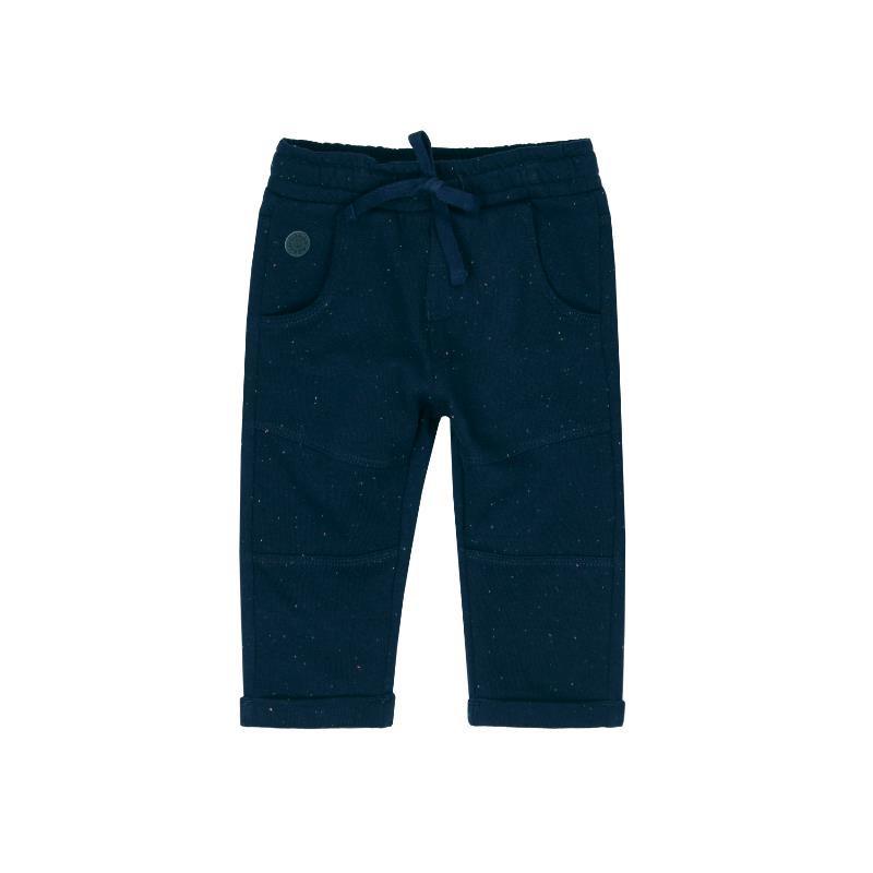 Памучен панталон с връзки за момче, син  363