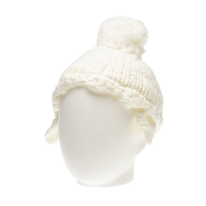 Шапка за бебе за момиче бял  36301