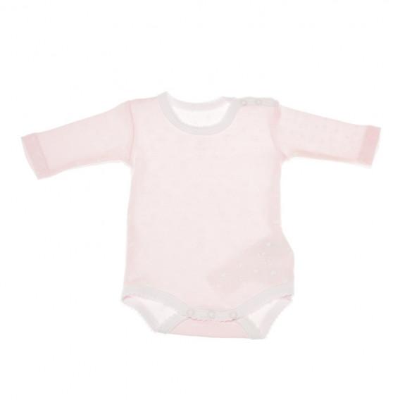 Комплект от 2 броя бодита с дълъг ръкав за бебе момиче Chicco 36351