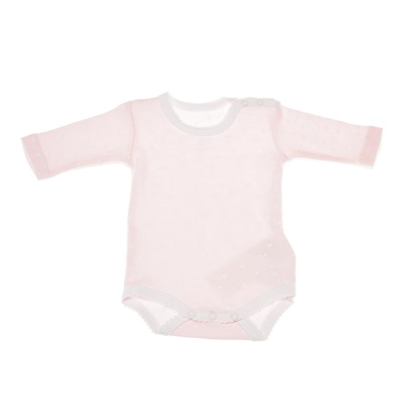Комплект от 2 броя бодита с дълъг ръкав за бебе момиче  36351