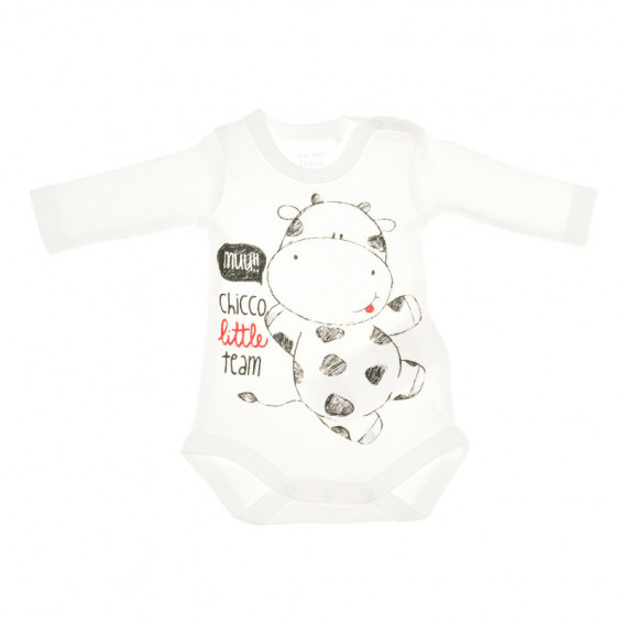 Комплект от 2 броя бодита с дълъг ръкав за бебе - унисекс Chicco 36392