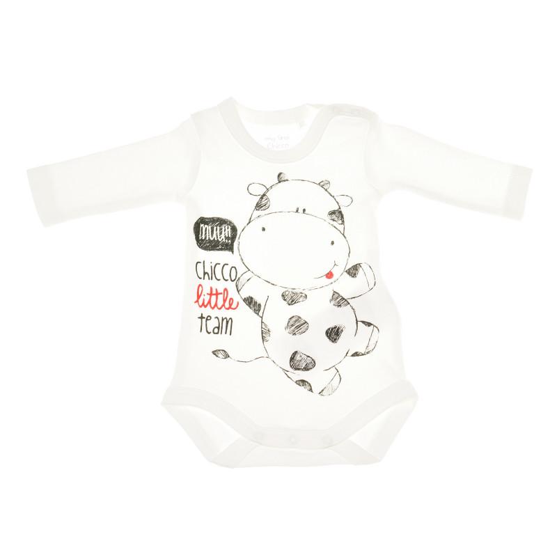 Комплект от 2 броя бодита с дълъг ръкав за бебе - унисекс  36392