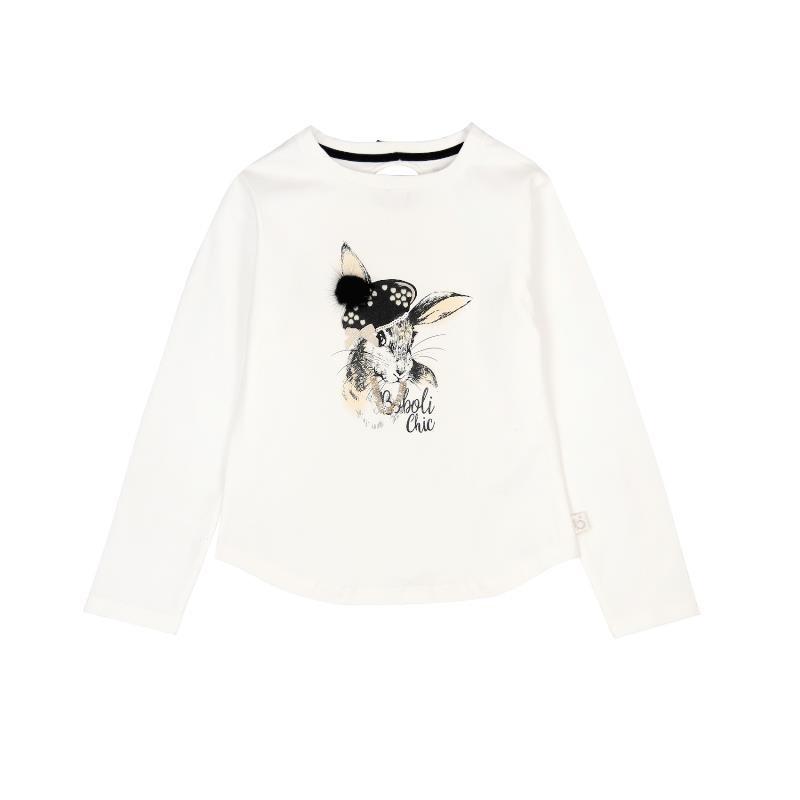 Памучна блуза за момиче с щампа зайче  3662