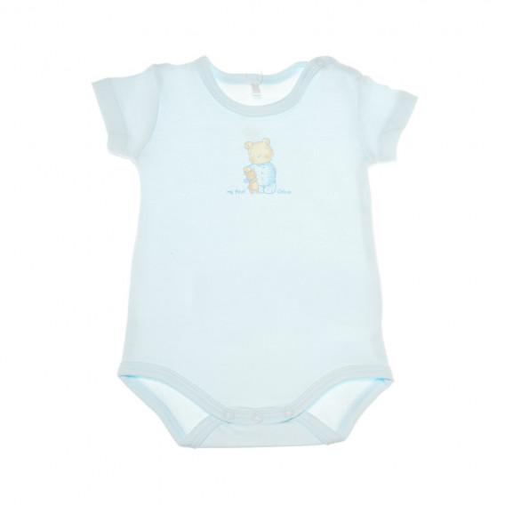 Памучно боди с къс ръкав за бебе момиче Chicco 36624