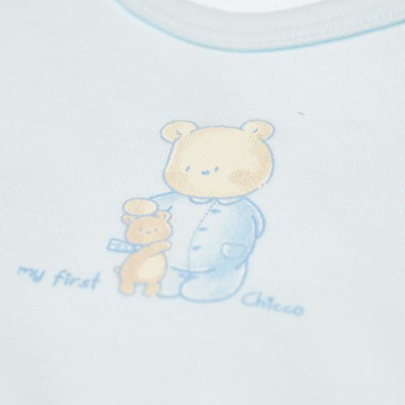 Памучно боди с къс ръкав за бебе момиче Chicco 36626 3