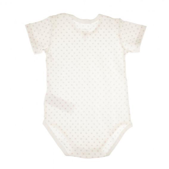 Памучно боди с къс ръкав за бебе момиче Chicco 36645 2
