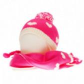 Плетен комплект шапка и шал за бебе момиче Chicco 36758