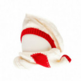 Плетен комплект шапка и шал за бебе момиче Chicco 36767