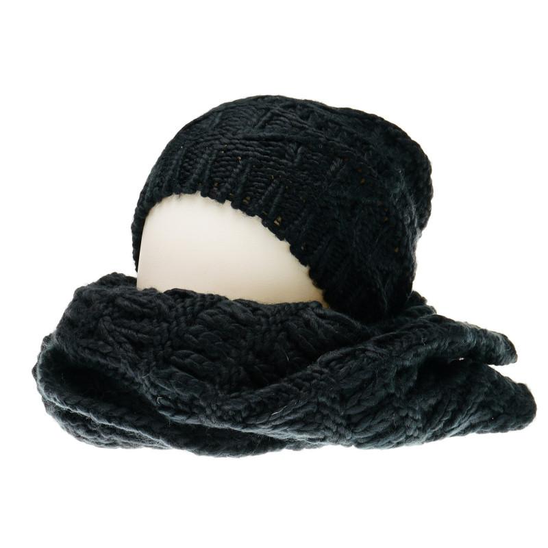 Плетен комплект шапка и шал за момиче  36771