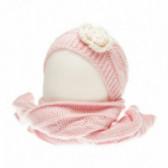 Плетен комплект шапка и шал за бебе момиче Chicco 36863