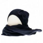 Плетен комплект шапка и шал за бебе момиче Chicco 36865