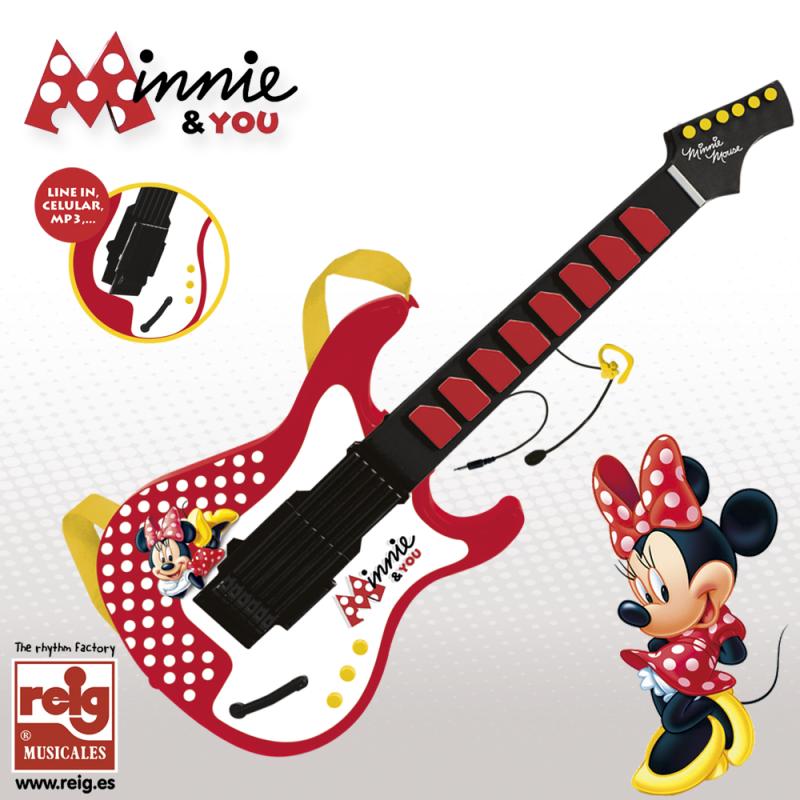 Детска електронна китара с микрофон Мини Маус  3746