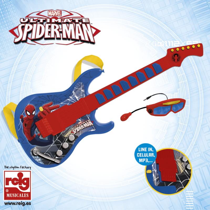 Детска електронна китара с очила и микрофон  3789