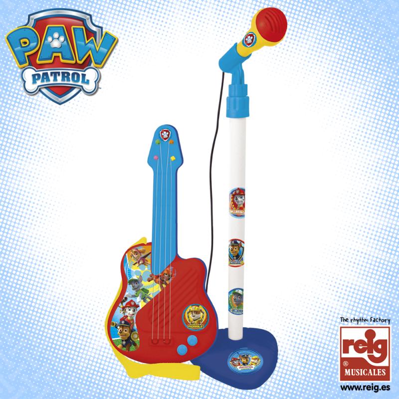 Детски комплект китара и микрофон, синьо-червен  3796
