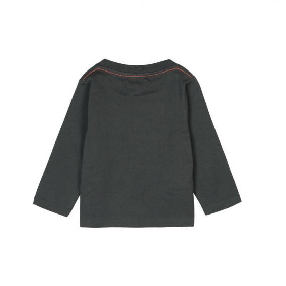 Памучна блуза с дълъг ръкав за бебе момче Boboli 380 2
