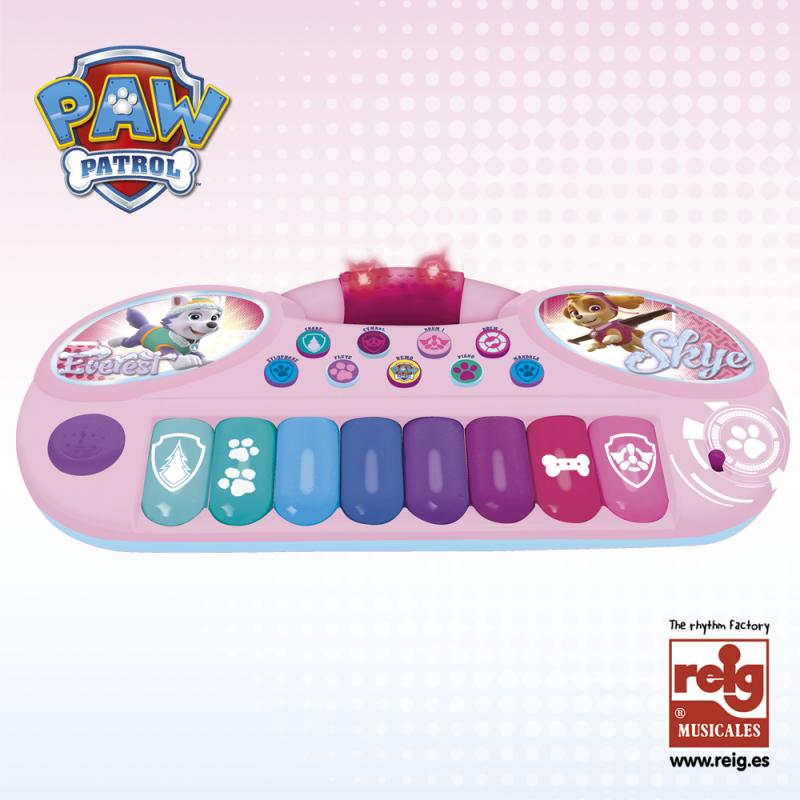 Електронно пиано Пес патрул с 8 цветни клавиша  3809