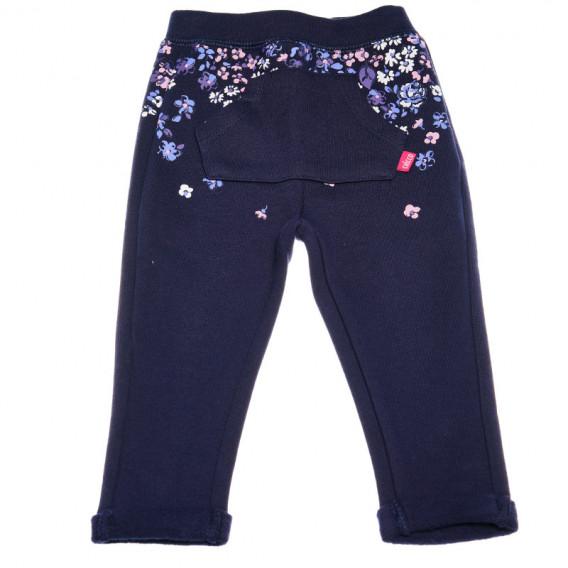 Памучен панталон за бебе момиче Chicco 38753