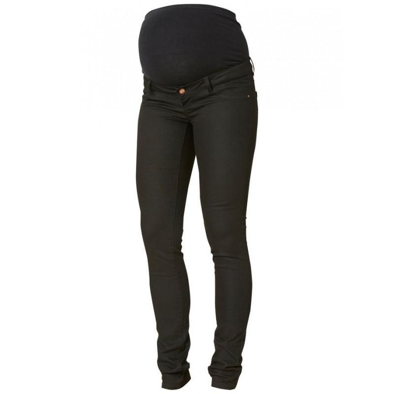 Панталон за бременни с вталена кройка черен  3882