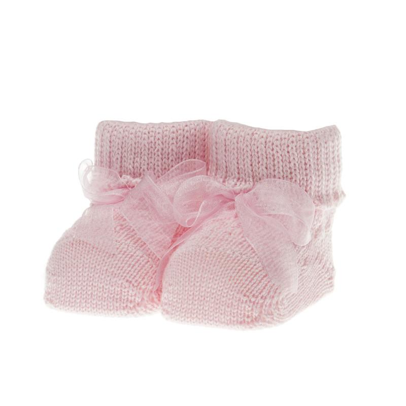 Плетени  чорапки за бебе момиче  39384