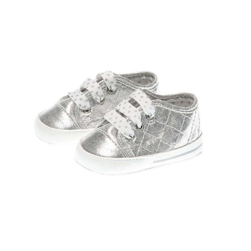 Меки буйки за бебе момиче, сребърни  39633