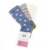 Чорапи  - 3 броя за момиче Chicco 40276