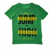 Тениска с принт от органичен памук  за момче Name it 40410