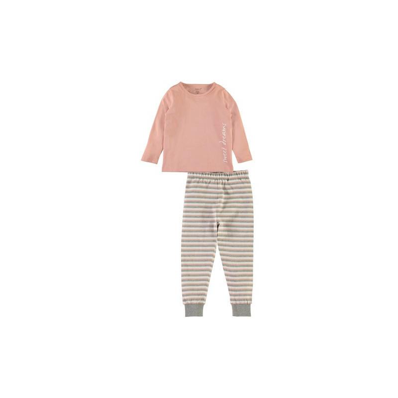 Памучна пижама от 2 части за момиче, многоцветна  4055