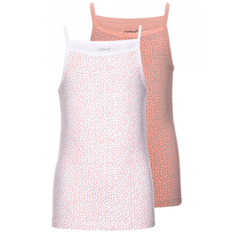 Комплект от 2 броя памучни потници за момиче  4057