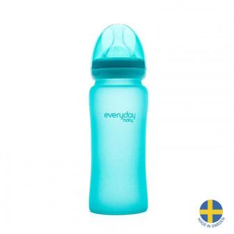 Стъклено шише с променящ се цвят при горещина. швеция Everyday baby 40970