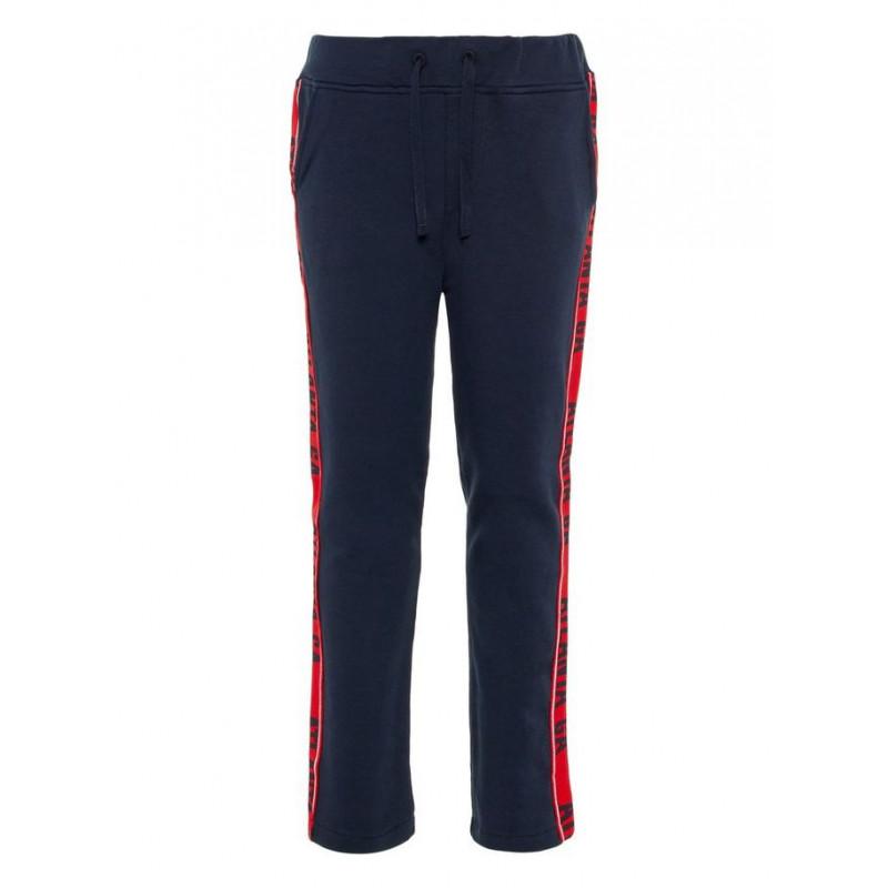 Спортен панталон с кант за момче, черен  4113