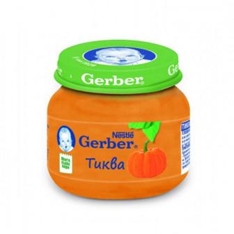 Пюре от тиква Nestle Gerber, 6+ месеца, бурканче 80 гр. Nestle 41489
