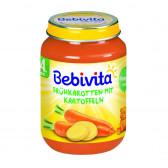 Пюре моркови с картофи, 3-5 месеца, бурканче 190 гр. Bebivita 41492