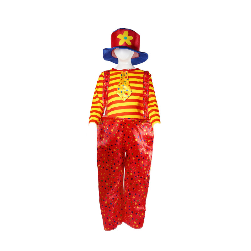 Костюм на клоун в ярки цветове за момче   41919
