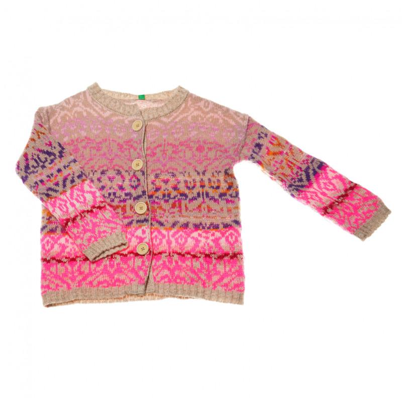 плетена жилетка за момиче, шарена  42167