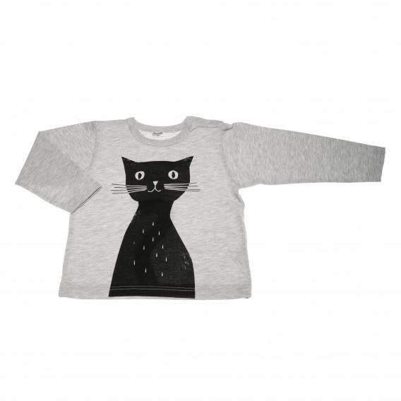 Памучна блуза с дълъг ръкав за бебе момиче Pinokio 42577