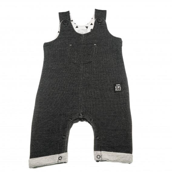 Памучен гащеризон без ръкави за бебе - унисекс Pinokio 42589