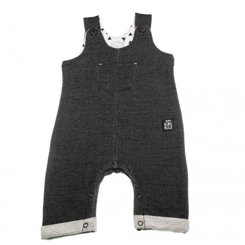 Памучен гащеризон без ръкави за бебе - унисекс  42589