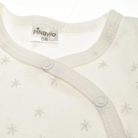 Памучно боди с дълъг ръкав за бебе - унисекс Pinokio 42598 2