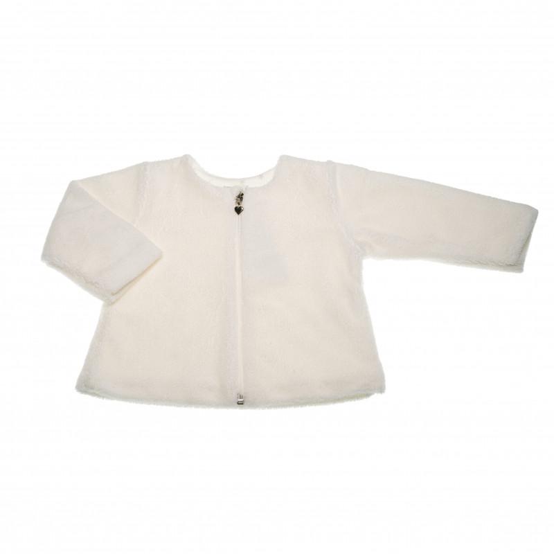 Памучен суитчър с дълъг ръкав за бебе момиче  42604