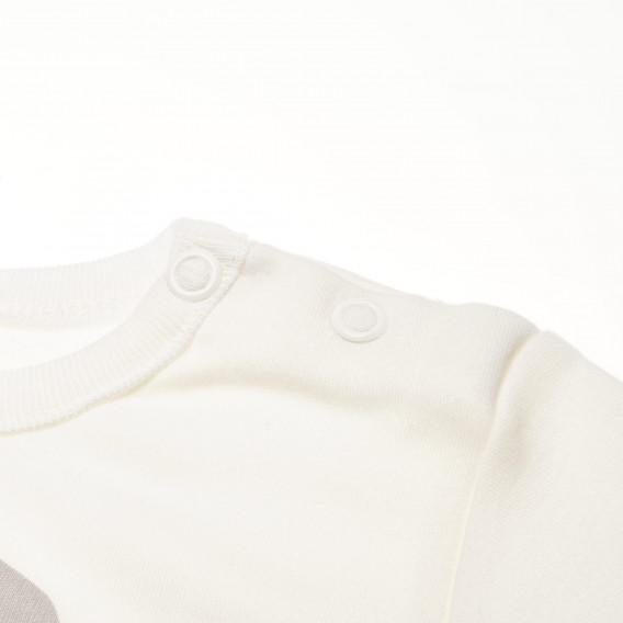 Памучно боди с дълъг ръкав за бебе - унисекс Pinokio 42610 4